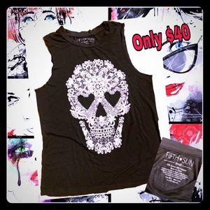 Fifth Sun Skull Graphic Tee.  Only $40.